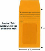 Jewelry Window Envelopes Pack Of 500