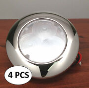 4pcs Marine Boat Rv Bus Trailer Truck Auto Led 3 Red Colored Round Courtesy Odm