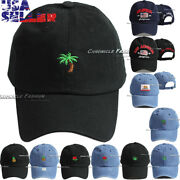 Baseball Ball Cap Cotton Hat Embroidery Adjustable Curved Bill Men Dad Caps Hats