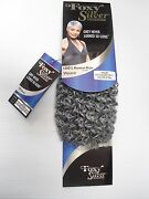 Foxy Silver 12 Salt Nand039 Pepper Human Hair Blend Jerry Curl Weave Grey Color 51