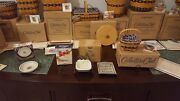 Longaberger Collector's Club J.w. Collection Miniature Baskets And Pottery