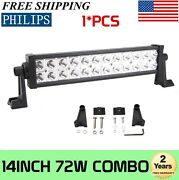 Philips 14and039and039inch 72w Led Work Light Bar Offroad Car Boat Truck Ute Combo Beam 12