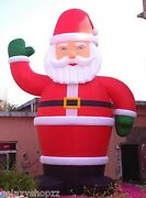26and039 Inflatable Santa Christmas Holiday Decoration With Blower