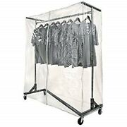 New Commercial Grade Garment Black Base Z-rack With Cover Supports And Vinyl Cover