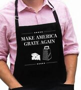 Make America Grate Again Funny Novelty Apron Gift For Dad, Trump, Christmas Gift