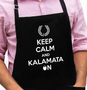 Keep Calm And Kalamata On Funny Novelty Apron Gift For Dad, Husband, Fathers Day
