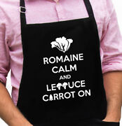 Romaine Calm Funny Novelty Apron Gift For Dad, Husband, Fathers Day