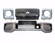 For Mercedes Benz W463 G Class Amg Body Kit G63 Front Bumper + Grille + Led Drl
