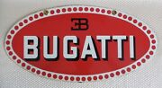 Awesome Rare Vintage 1950/60s Thick Steel And Porcelain Enamel Bugatti Sign