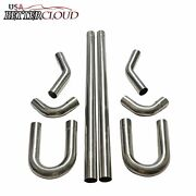 3 76mm Stainless Steel T304 Diy Custom Mandrel Exhaust Pipe Straight And Bend Kit