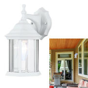 Exterior Outdoor Light Fixture Wall Lantern Sconce 1 Or 2 Pack White