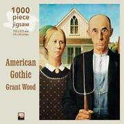 Adult Jigsaw Grant Wood American Gothic 1000 Piece Jigsaw Puzzle New