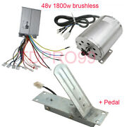 1800w 48v Brushless Electric Motor Speed Controller Scooter Throttle Foot Pedal