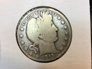 1915 Barber Half Dollar In Very Good Old Time Collector Coin
