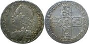 1757 Great Britain George Ii Silver 6 Pence Extra Fine Km 582.2