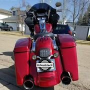 Hard Candy Hot Rod Red Flake Stretched Saddlebag Extended Bags For 2014+ Harley