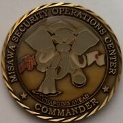 Vhtf Nsa Css Misawa Japan Security Operations Ctr Msoc Elephant Commander Coin