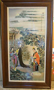 Large Chinese Famille Rose Porcelain Plaque With Frame  M1332