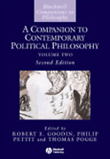 A Companion To Contemporary Political Philosophy By Robert E Goodin Used