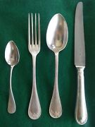 19th Century Ercuis French Silver Silverware Set Of 6 Good Condition