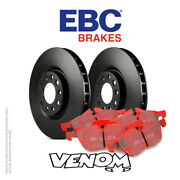 Ebc Rear Brake Kit Discs And Pads For Jaguar Xkr 4.2 Supercharged 2002-2006