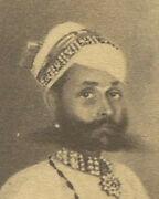 Man In Traditional Setting. India, 19th Cen. India. Artwork On Cdv.