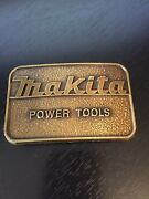 Makita Power Tools Belt Buckle Usa Brass Color Dimensional