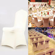 Wedding Chair Covers Ivory Lycra Spandex Stretch Banquet Reception 10/20/50/100