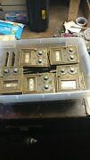 Vintage Brass Working Mailbox Lock And Combinations With Mail Slot. Set Of 36