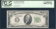 Fr. 2007-e 1934-b 10 Frn Federal Reserve Note Pcgs Very Choice New-64ppq