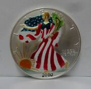 2000 Painted Colorized Walking Liberty Dollar 1 Oz. Fine Silver Just Beautiful