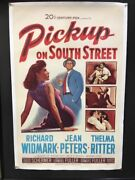 Pickup On South Street Original Movie Poster 1953 Film Noir Hollywood Posters