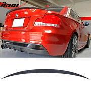 Fits 07-13 Bmw 1 Series E82 Performance Painted Jet Black 668 Trunk Spoiler