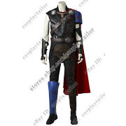Thor Ragnarok Cosplay Thor Odinson Costume With Cape Red Uniform Suit Full Set