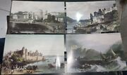 4 Old Vintage Air India Air Lines Co. Picture Post Cards From India 1970
