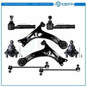 8x For 2000-2005 Toyota Celica Complete Front Control Arms Ball Joints Sway Bars