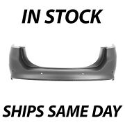 New Primered Rear Bumper Cover Direct Fit For 2013-2018 Ford Fusion W/ Park Ast