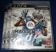 Lot Of 3 Madden Nfl 13 Sony Playstation 3 - Ps3 - Factory Sealed Free Ship