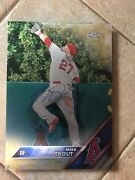 Mike Trout 1/1 Signed Metal Poster Gold Edition Mlb Holgram- The Catch 10 X14