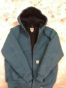 Womens Sandstone Duck Active Jacket Wj130 Hooded Quilted Lined Sz S