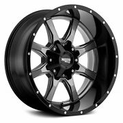 Mo970 17x9 Black Gray Wheels Tires Package 5x139.7 5x5.5 33 At Dodge Ram