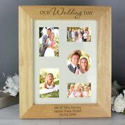 Our Wedding Day Personalised Engraved Wooden Photo Frames Mr And Mrs Wedding Gift