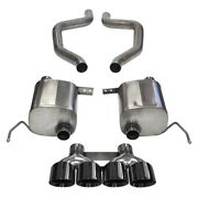 Corsa 2015 Chevy Corvette Z06 3in Axle Back Exhaust Black Quad 4.5in Tip Xtrem