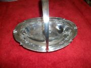 Wilcox Silver Oval Serving Bowl With Design On Both Inside Ends 9055n