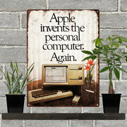 1983 Apple Invents The Personal Computer Again Lisa Metal Sign Repro 9x12 60484
