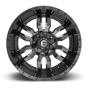 20 20x10 Sledge Black Wheels 35 Fuel At Tires Package 8x170 Ford F250 F350 Tpm