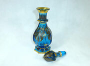 Glas Bottle/carafe With Fine Schwarzlot Painting About 1840 Bohemia
