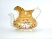 Unusual Jug With Fine Flower Painting Russia France About 1860 B-44