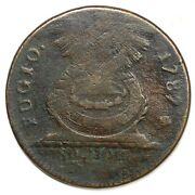 1787 1-b R-5 Cross After Date Fugio Colonial Copper Coin