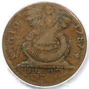 1787 1-b R-4 Pcgs Vf 20 Cross After Date No Cinq Fugio Colonial Copper Coin
